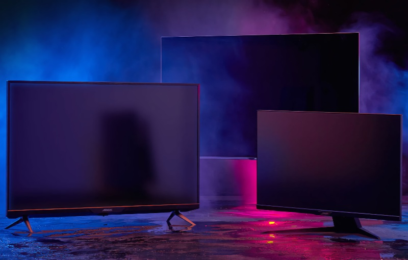 The monitors are available in three sizes. Image courtesy of Gigabyte.