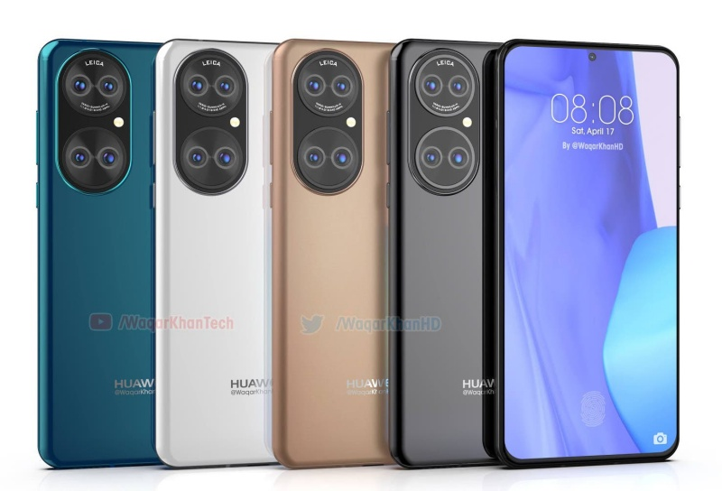 The Huawei P50 lineup could be available in white, black, blue and biege. <br>Image source: Waqar Khan
