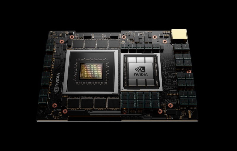 NVIDIA's first data centre CPU called Grace. Image courtesy of NVIDIA.