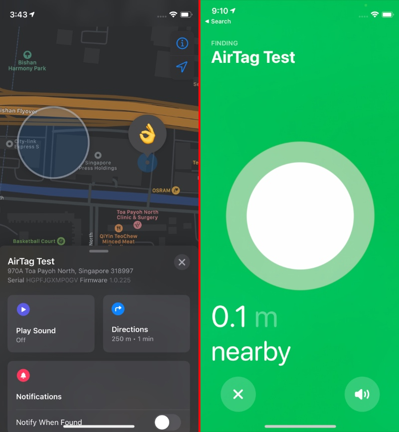 You can see the location of your AirTags in the Find My app.