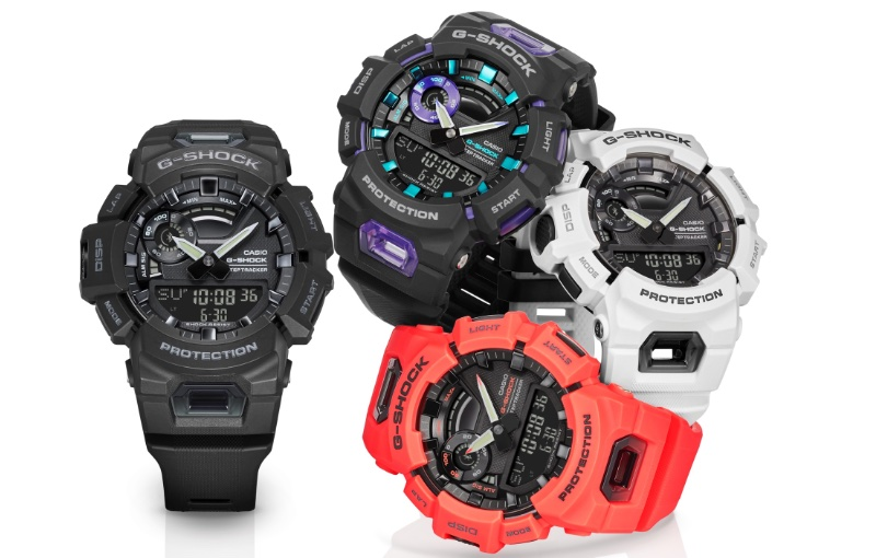 The new watch comes in four colours. Image courtesy of Casio.