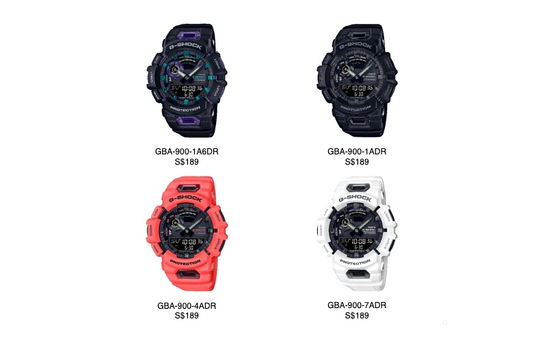They'll be available online and in official stores as well. Image courtesy of Casio.