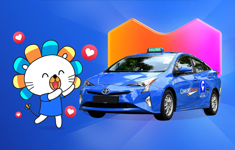 Lazada and ComfortDelGro partnered up for taxi rides within the online retail app.
