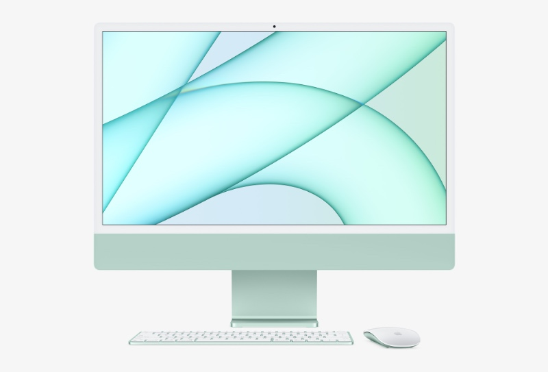 The new iMacs have an all-new design. (Image source: Apple)