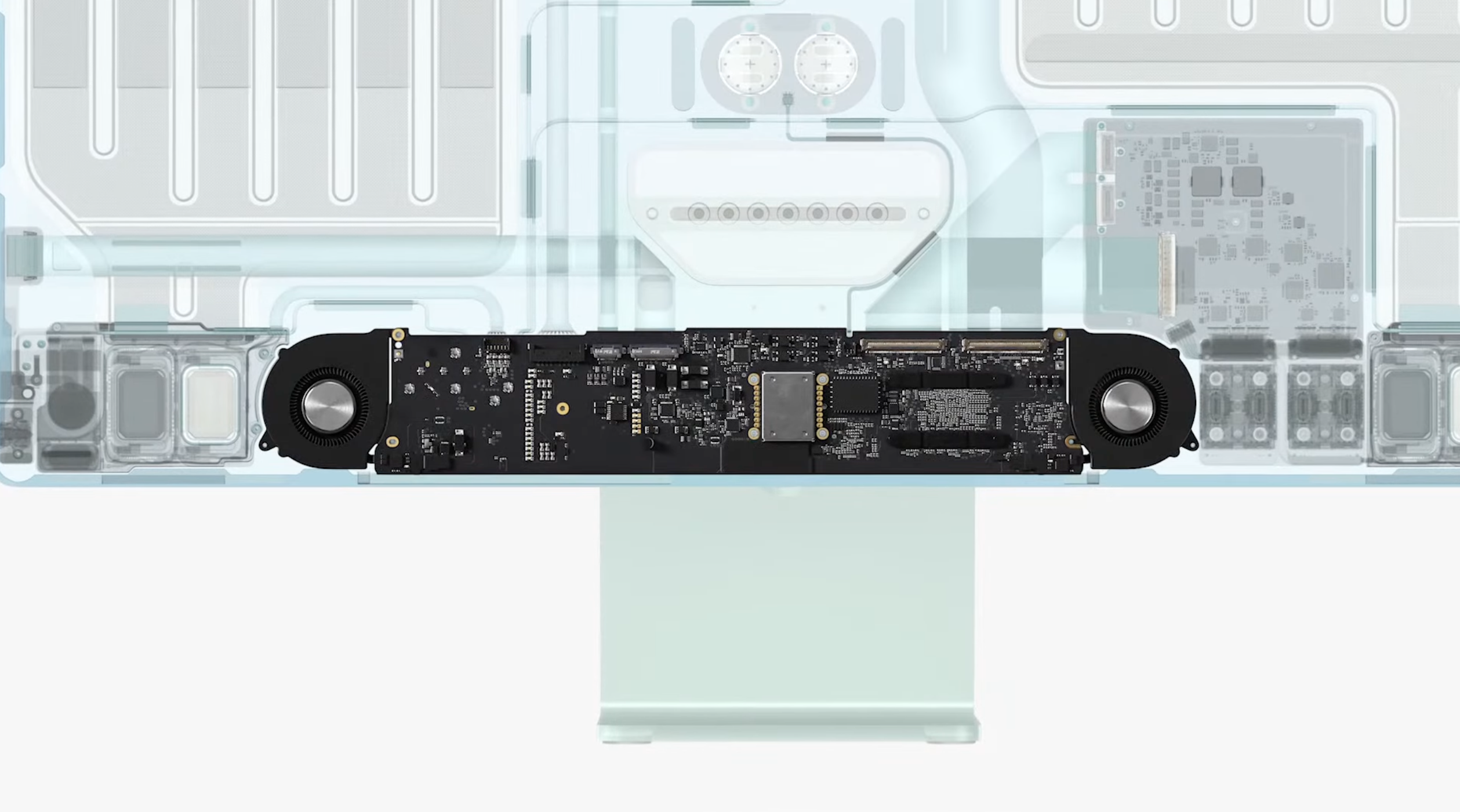 The logic board is so small. (Image source: Apple)