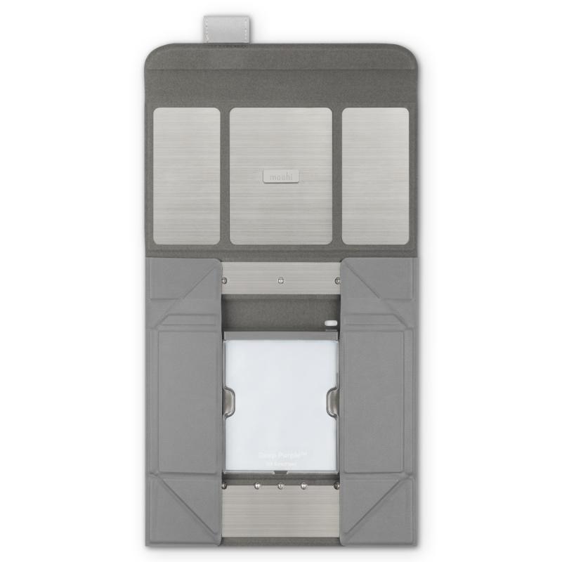 The Deep Purple UV sanitiser folds flat for portability. (Image source: Moshi)
