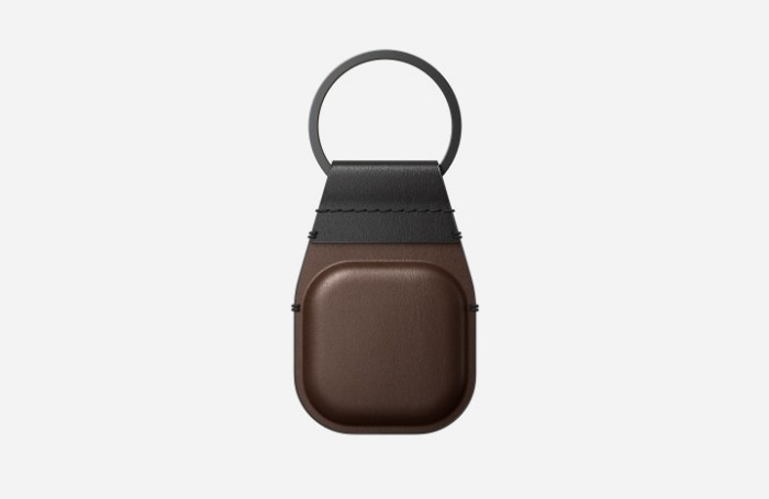 The Nomad Leather KeyChain for the AirTag. <br>Image source: Nomad