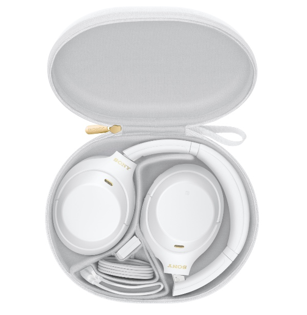 The Sony WH-1000XM4 Silent White comes with matching white accessories. (Image source: Sony)