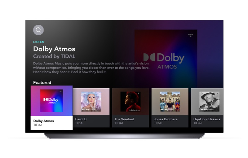 You'll need an LG TV using webOS 4.0 to 6.0 to enjoy Tidal. Image courtesy of LG.