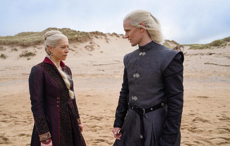 Rhaenyra and Daemon Targaryen   Image: HBO