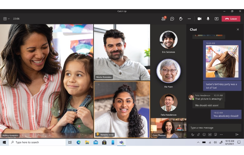 Teams Personal could be the family chat app of choice. Image courtesy of Microsoft.