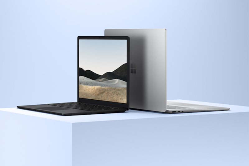 """Microsoft's new Surface Laptop 4 in 13.5"""" and 15"""" models."""