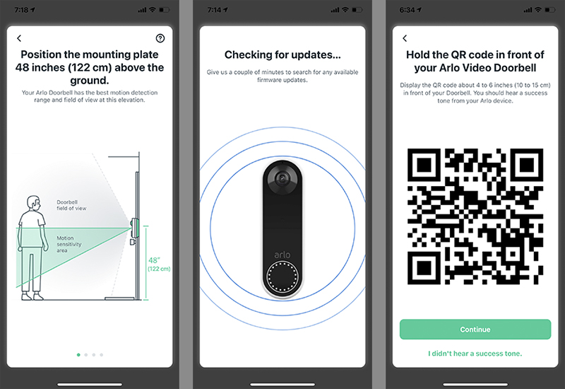 The Arlo app takes you through a comprehensive set-up process including a guide on how to best mount it to the wall.