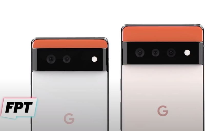 The Google Pixel 6 (left) and the Pixel 6 Pro (right). <br>Image source: Jon Prosser and @RendersbyIan