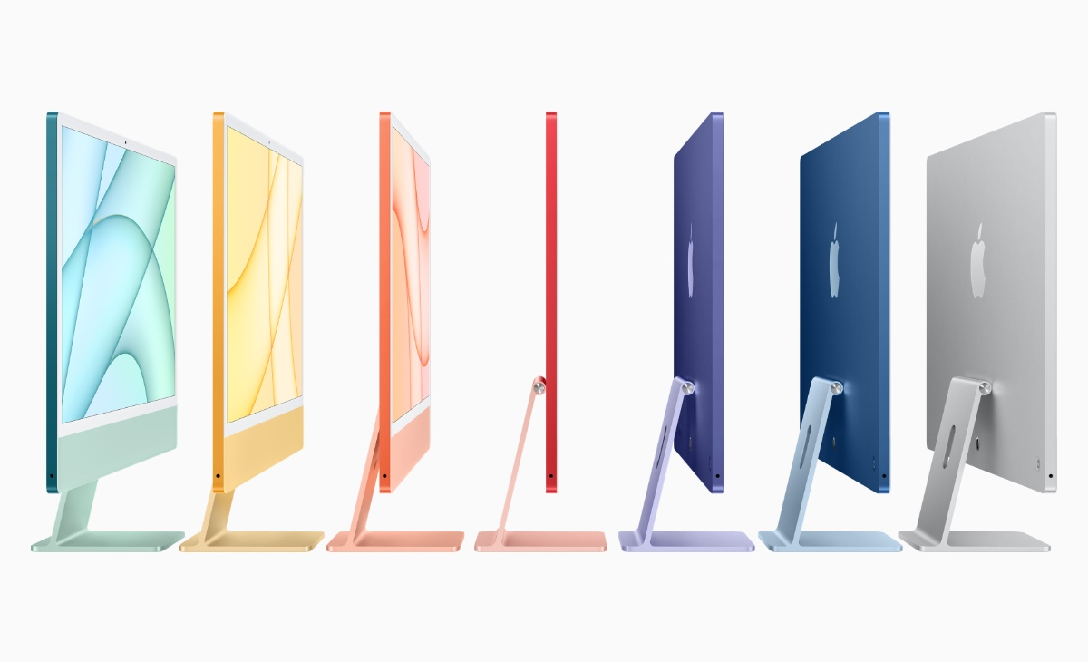 The iMac and its seven colours.