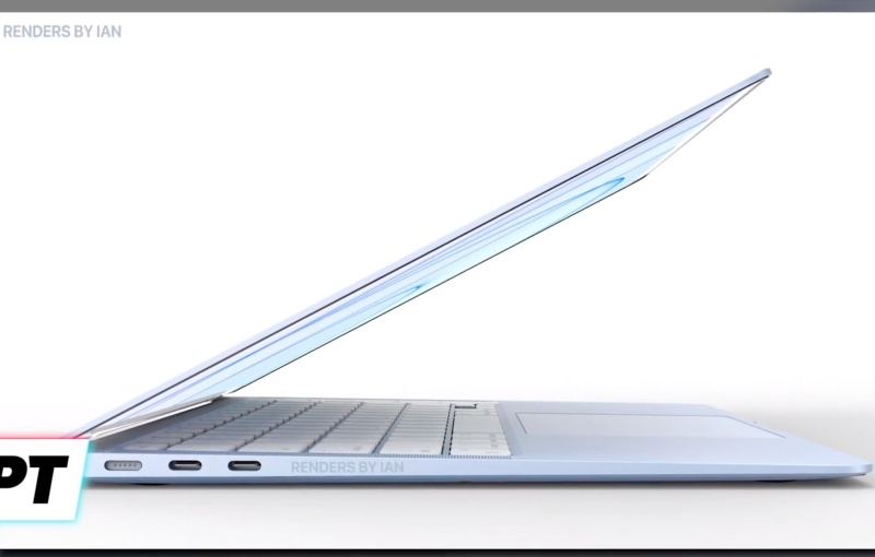 """Screenshot taken from Front Page Tech's YouTube video """"Apple's M2 MacBook Air - COLOURS ARE BACK! EXCLUSIVE LEAK!"""