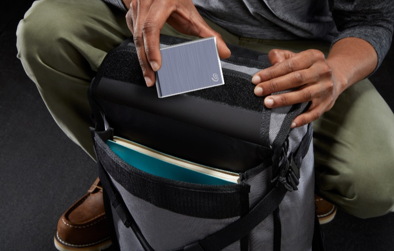 It's one of the smallest external drives available. Image courtesy of Seagate.