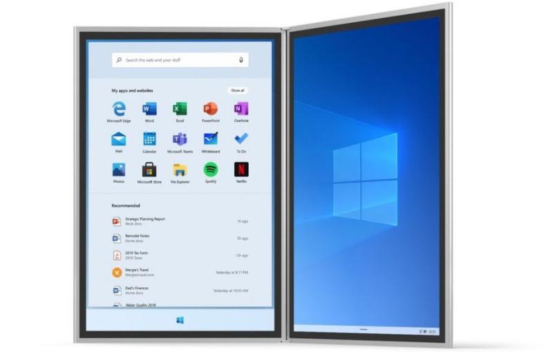 Windows 10X. <br>Image source: Microsoft