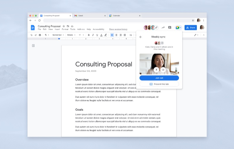 Make calls from within a document. Image courtesy of Google.