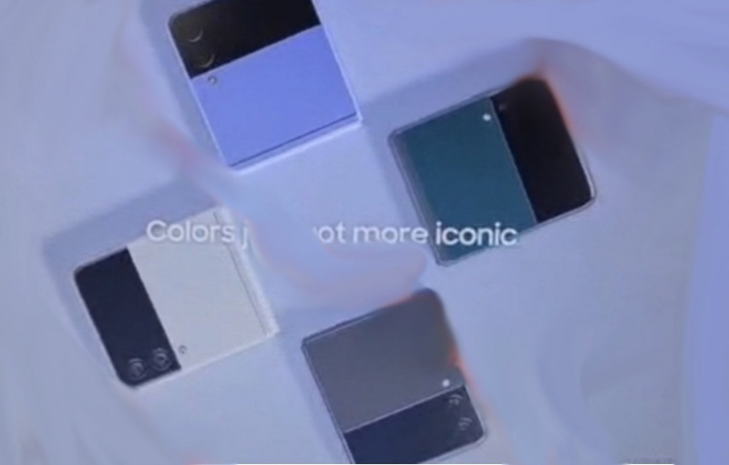 The Samsung Galaxy Z Flip3 could be available in four colour options. <br>Image source: i冰宇宙