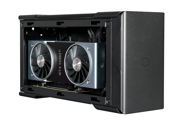 Cooler Master's EG200, an external graphics card solution that can also charge a laptop and add external hard drives.