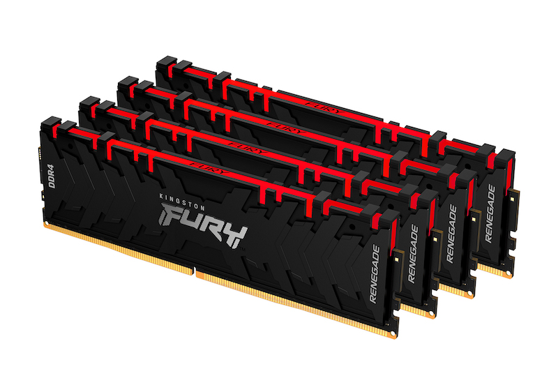 Kingston's HyperX Fury RAM Modules under the Renegade branding.