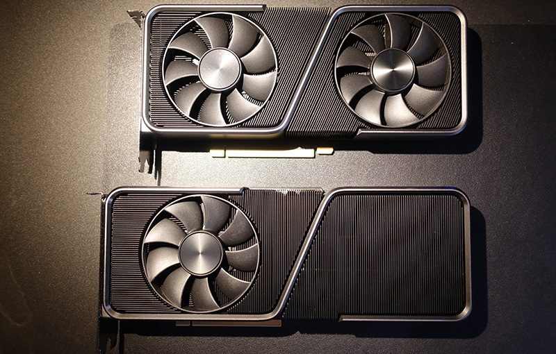 The RTX 3070 Ti Founders Edition sport a different, lengthier, cooler than the original RTX 3070 Founders Edition.