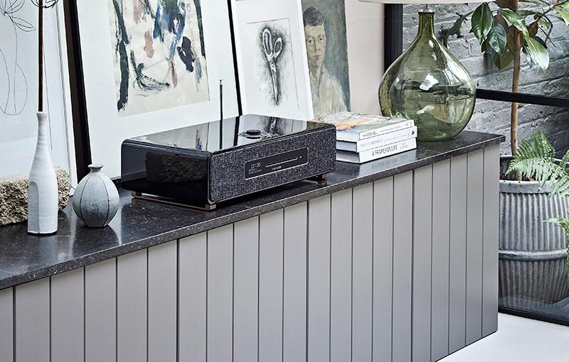 Ruark Audio R5 Signature all-in-one home speaker system (centre).