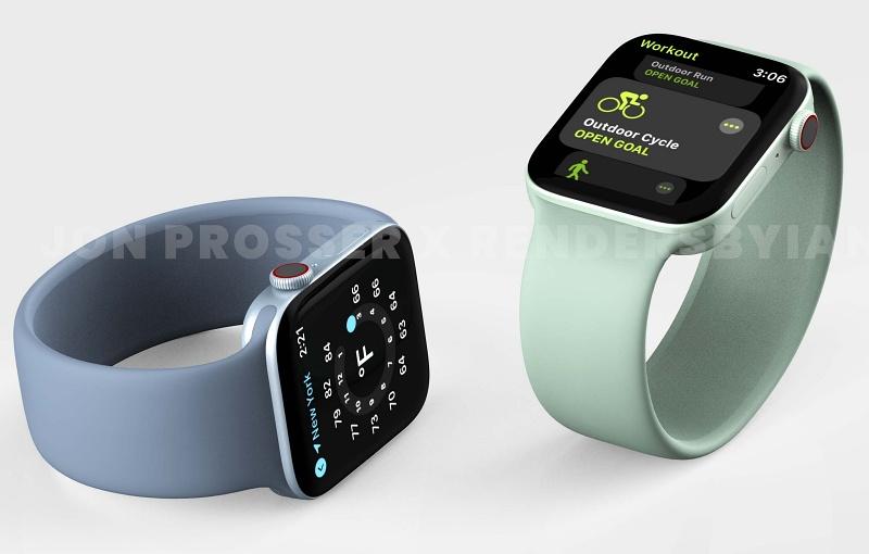 Render of the Apple Watch Series 7. <br>Image source: Jon Prosser and RendersbyIan.