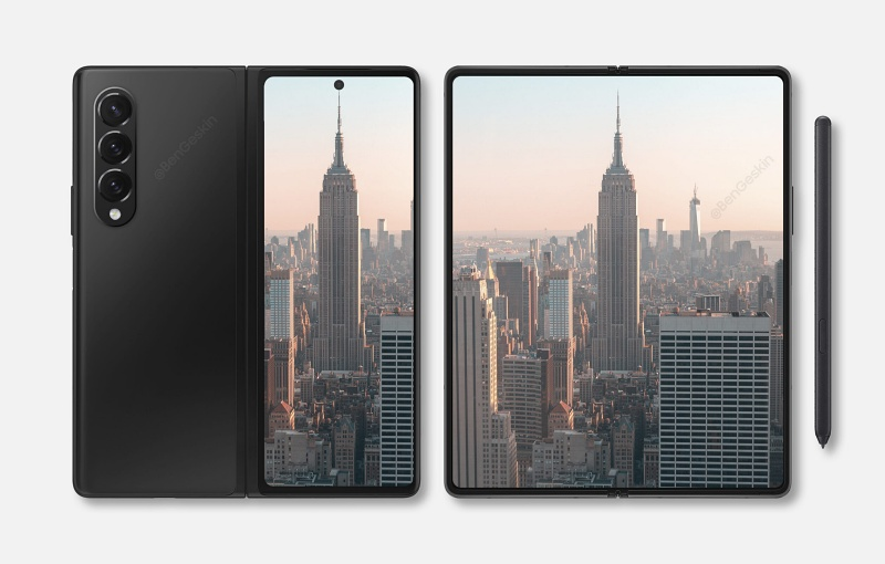 Concept render of the Samsung Galaxy Z Fold3. <br>Image source: Ben Geskin