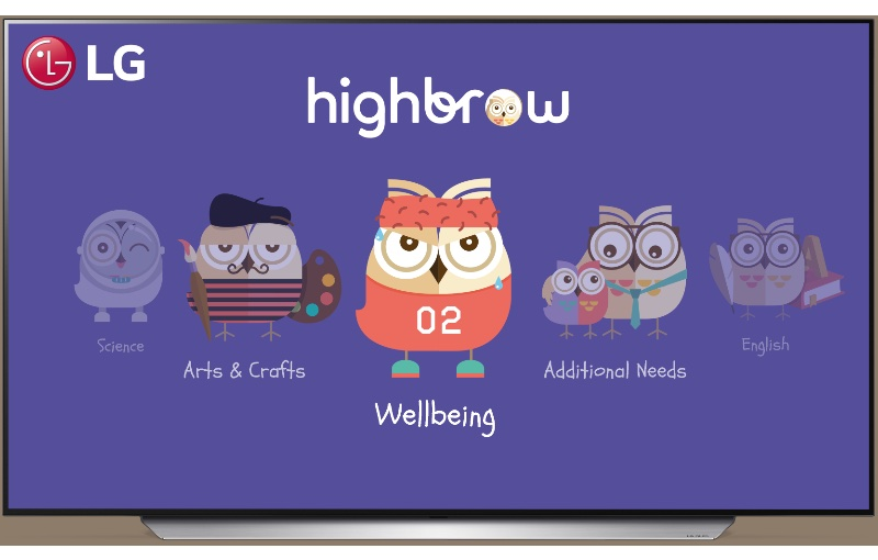 THe Highbrow library has more than 10,000 videos for subscribers. Image courtesy of LG.