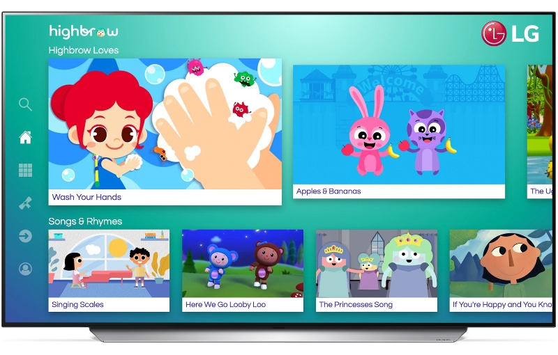 Baby Shark creator Pinkfong is one of Highbrow's content creators. Image courtesy of LG.