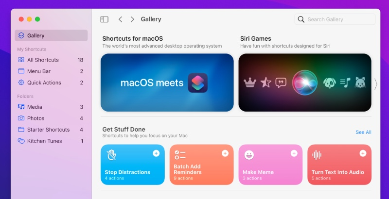 Shortcuts can be handy for running tasks that you often do.