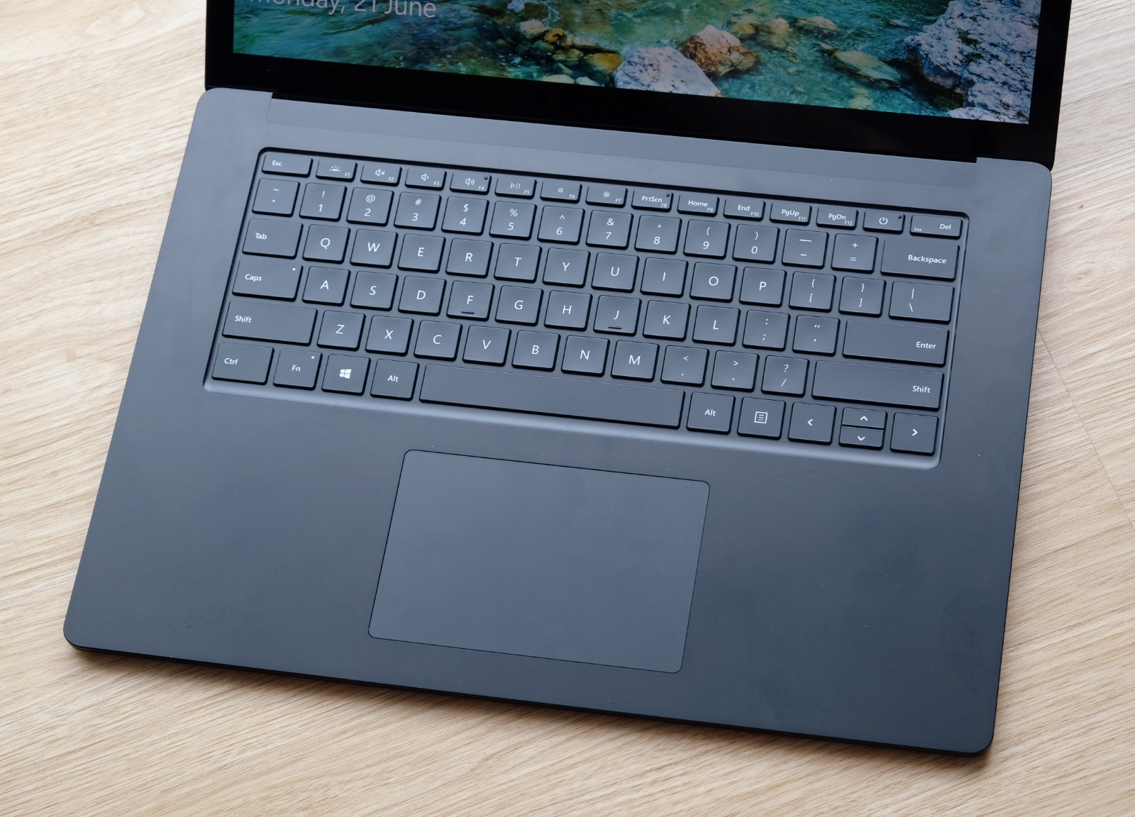 The trackpad is super accurate and responsive. The keyboard is also mostly pleasant to type on.