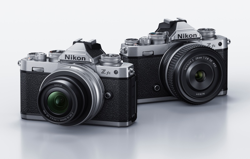 The Z fc with the two kit lens options. 16-50mm on the left and 28mm prime on the right. (Image source: Nikon)