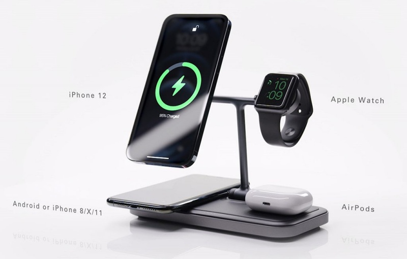 The HyperJuice 4-in-1 Wireless Charging Stand. <br>Image source: Hyper