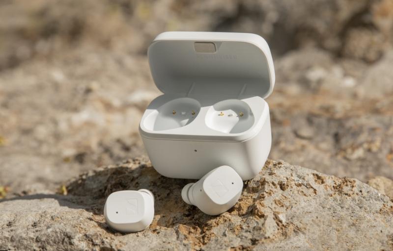 The Sennheiser CX True Wireless in matte white. (Image source: Sennheiser)