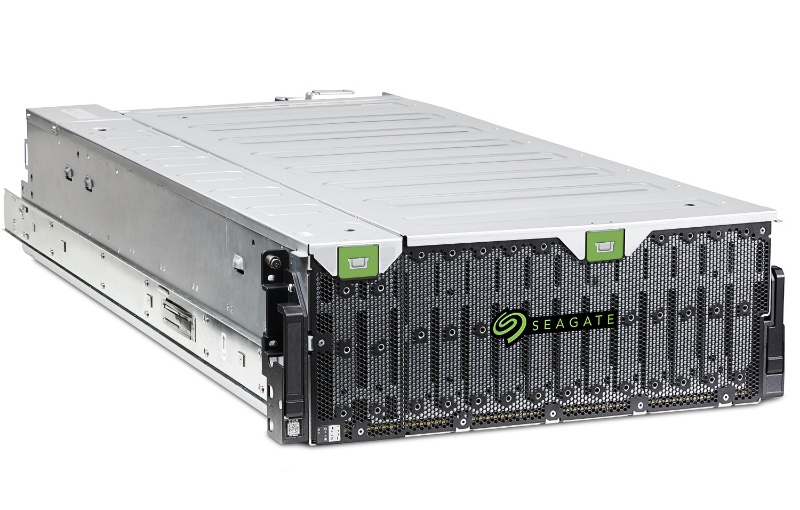 This self-healing SAN will arrive in July. Image courtesy of Seagate.