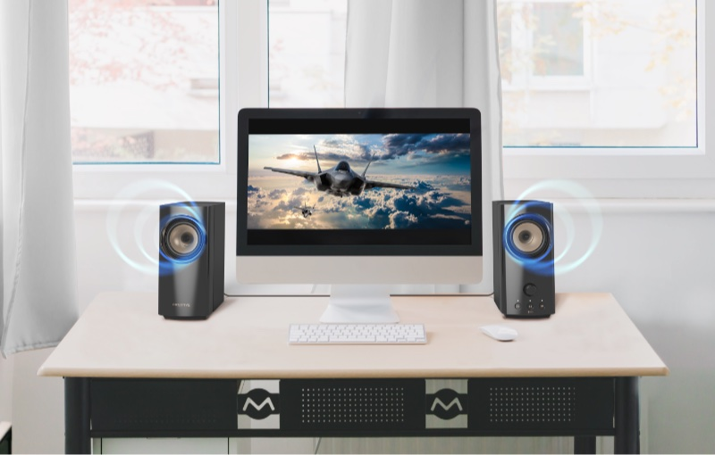 The T60's want to offer immersive sound for all your entertainment. Image courtesy of Creative.