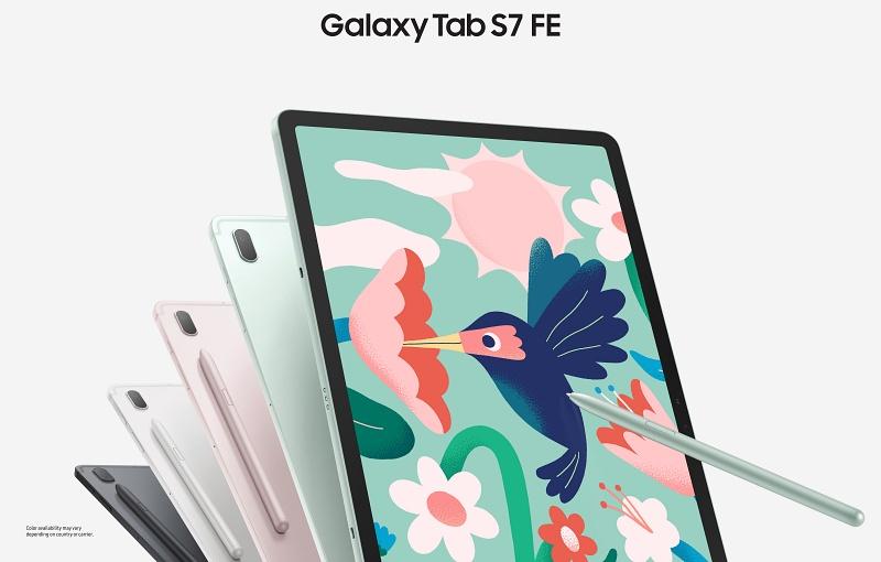 The Samsung Galaxy Tab S7 FE. <br>Image source: Samsung