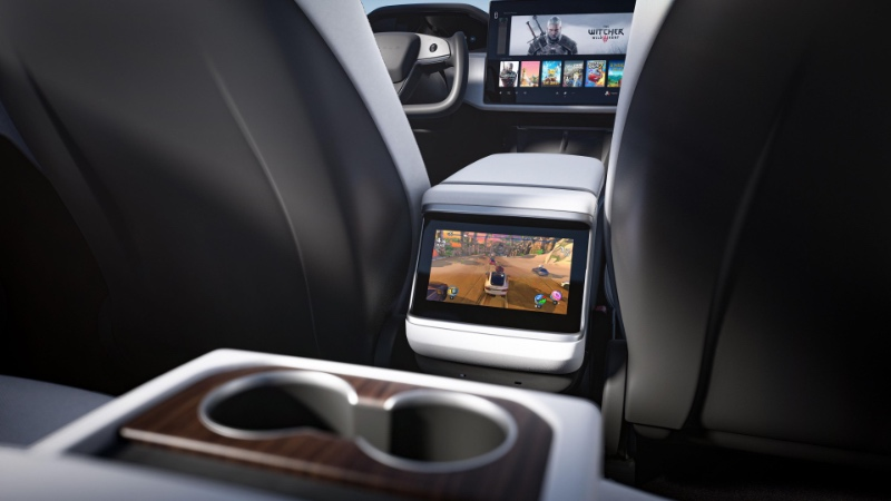 The infotainment system delivers PS5-level graphics. (Image source: Tesla)