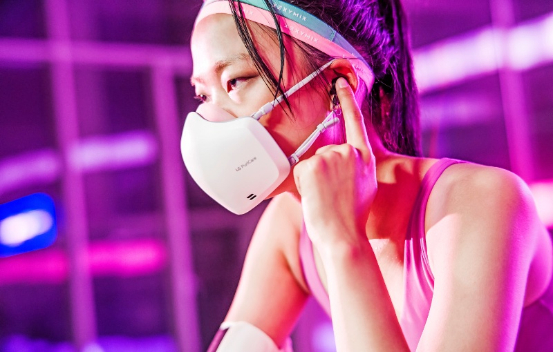 The new mask is lighter and easier to wear for a longer period. Image courtesy of LG.