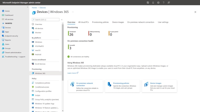 Easy deployment and provisioning. Image courtesy of Microsoft.