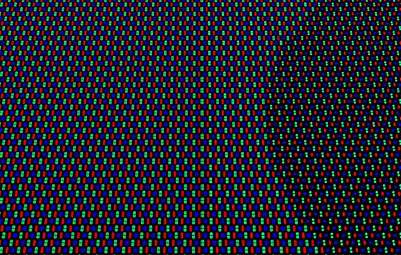 Pixel rendering of Oppo's display.