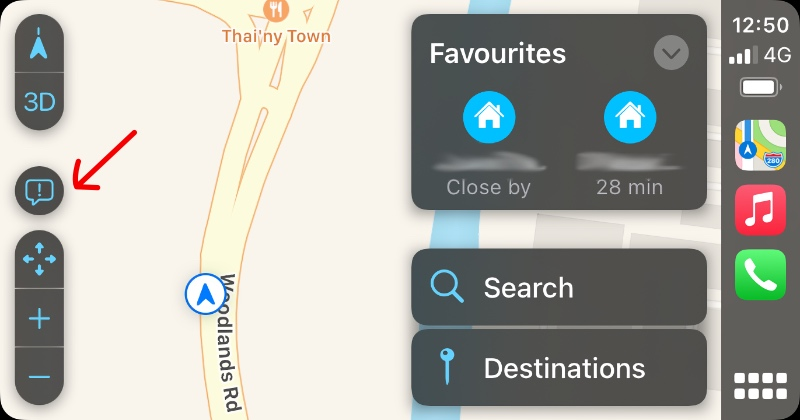 I noticed this new icon in Apple Maps in CarPlay.