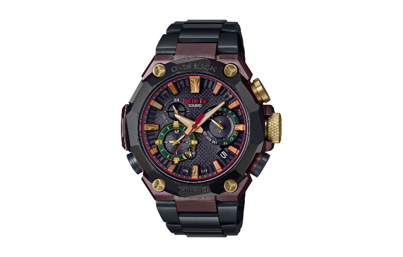 It draws inspiration from the armour the samurai wore. Image courtesy of Casio.