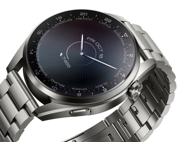 The Huawei Watch 3 Pro features a titanium case. (Image source: Huawei)
