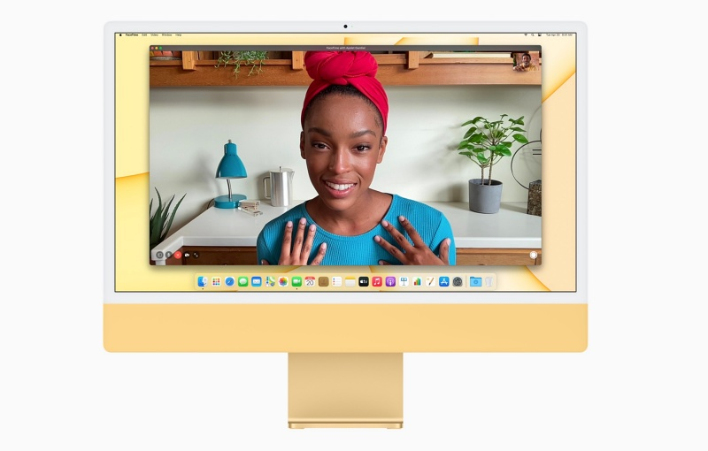 The 24-inch Apple iMac comes with a 1080p webcam. <br>Image source: Apple
