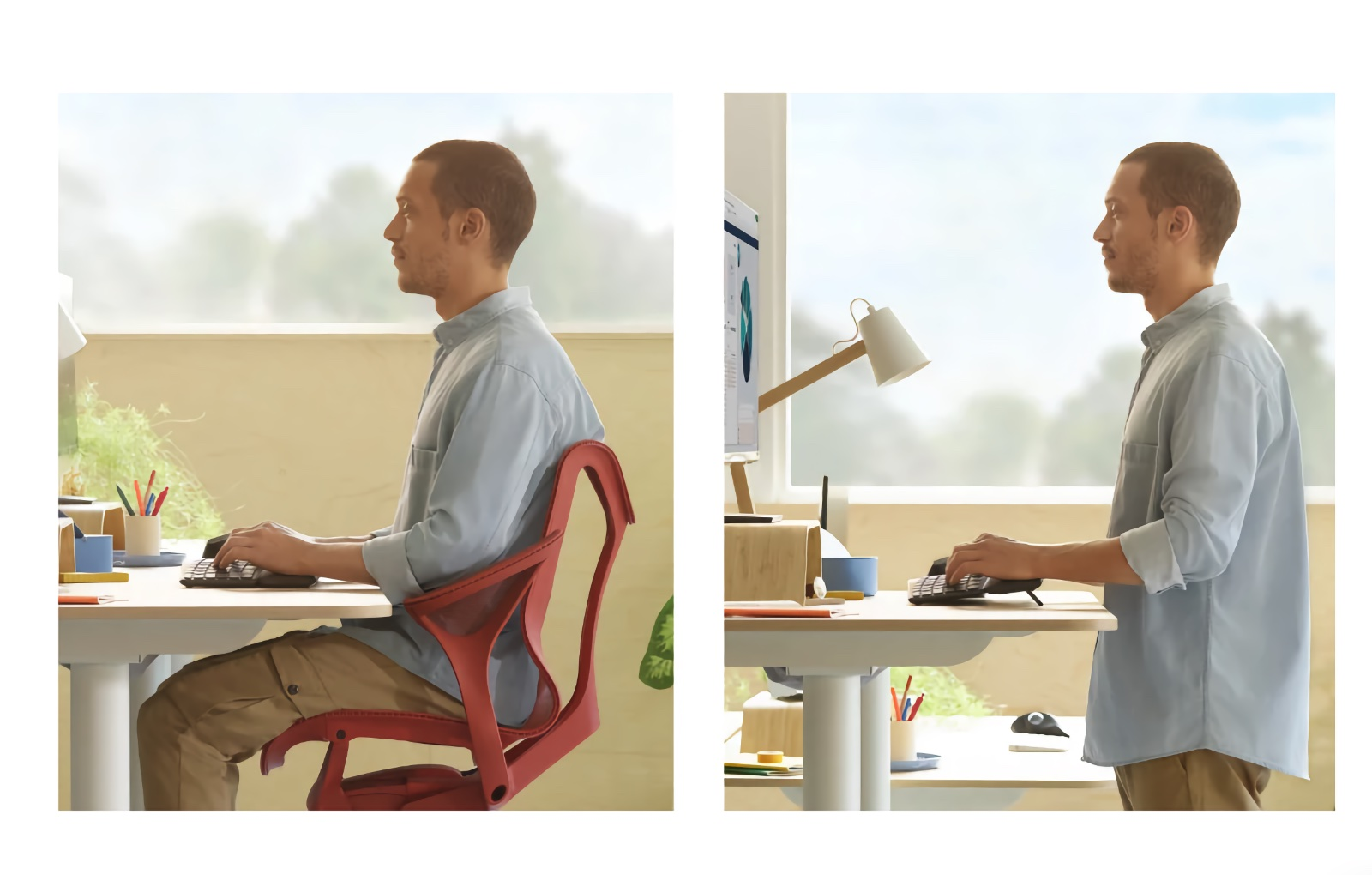 Be ergonomic no matter what your work set-up. Image courtesy of Logitech.