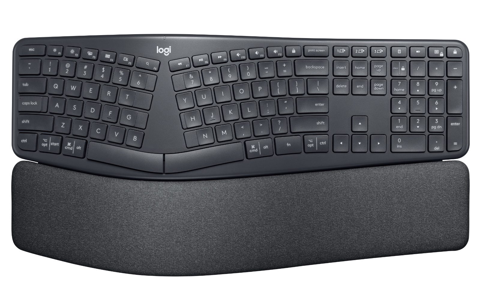 You can see how much to the size the wrist rest adds on. (Image courtesy of Logitech)